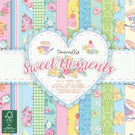 Dovecraft Sweet Moments 6 x 6 Paper pack (DCPAP096)