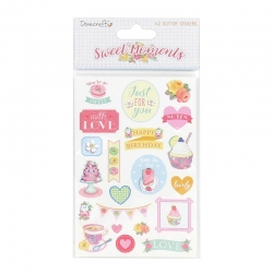 Dovecraft Sweet Moments A5 Glitter Stickers 2 Sheets (DCSTK053)