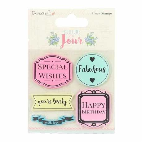 Dovecraft Couture Du Jour Clear Stamps - Sentiment (DCSTP082)
