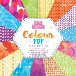 Paper Addicts Colour Pop 6x6 Paper Pad (PAPAD002)