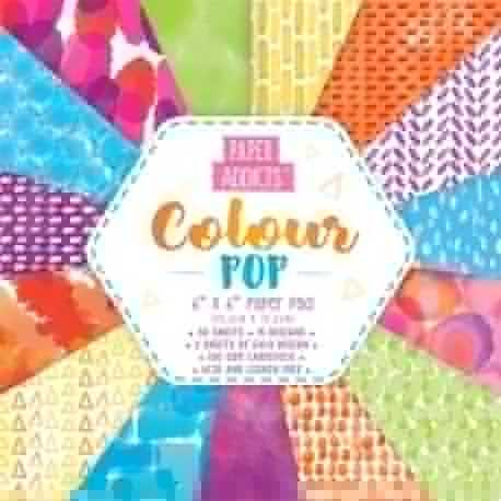 Paper Addicts Colour Pop 6x6 Paper Pad (PAPAD002)