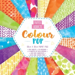 Paper Addicts Colour Pop 10x10cm Paper Pad (PAPAD003)