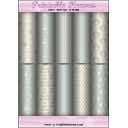 Download - Digital Paper Pad - Baby Blue