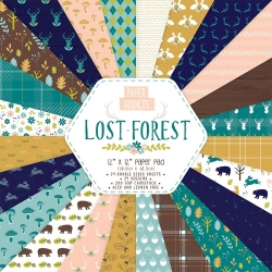 Paper Addicts Lost Forest 12x12 Paper Pad (PAPAD007)