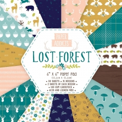 Paper Addicts Lost Forest 6x6 Paper Pad (PAPAD008)