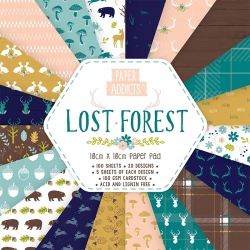 Paper Addicts Lost Forest 10x10cm Paper Pad (PAPAD009)