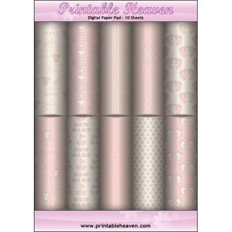 Download - Digital Paper Pad - Baby Pink