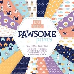 Paper Addicts Pawsome Prints 10x10cm Paper Pad (PAPAD003)