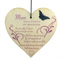 Wooden sign - Mum with Butterfly (1pc)