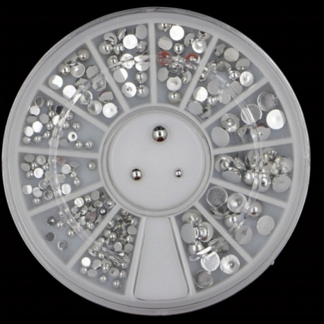 Silver Mini Half-pearl Wheel (20g)