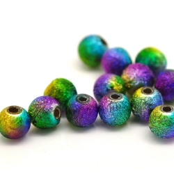 Round Metallic Beads Multi-colour (40pcs)