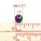 Round Metallic Beads Multi-colour (40pcs)