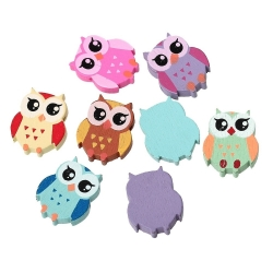 Wooden Owl Beads (8pcs)