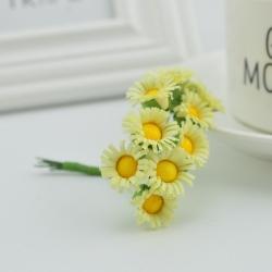 Mini Fabric Daisy Bunch - Cream (10 flowers)