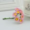 Mini Fabric Daisy Bunch - Pink (10 flowers)