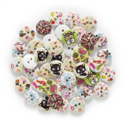 Printed Round Buttons (50pcs)