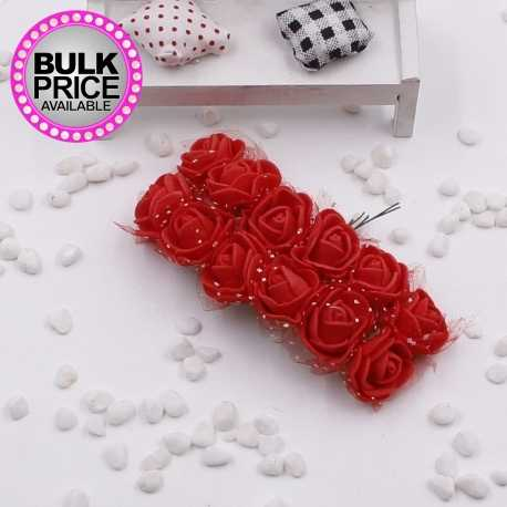 Foam Roses - Red (Bunch of 12)