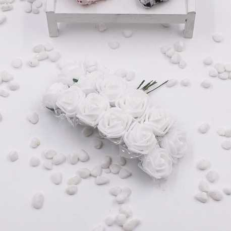 Foam Roses - White (Bunch of 12)