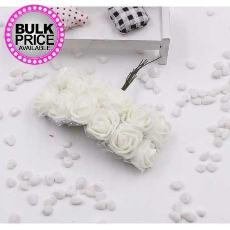 Foam Roses - Cream (Bunch of 12)