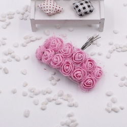 Foam Roses - Pink (Bunch of 12)
