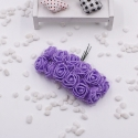 Foam Roses - Purple (Bunch of 12)