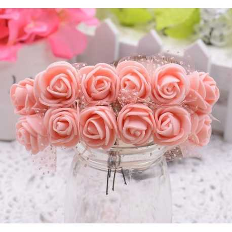 Foam Roses - Peach (Bunch of 12)