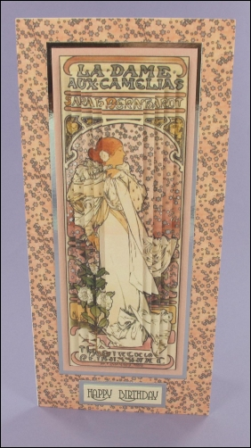 La Dame aux Camelias Tall Pyramage card