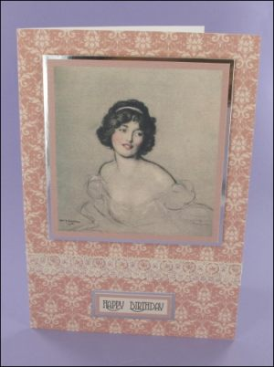 Betty motif card