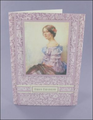 Lady in Lilac Gown card