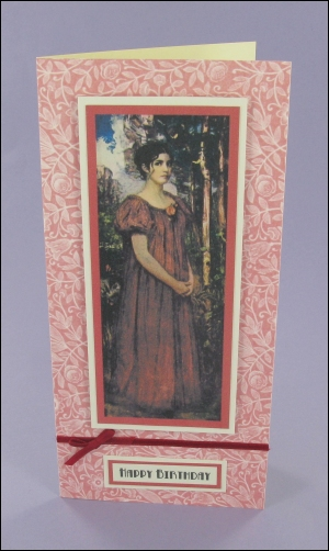 Red Gown Lady card