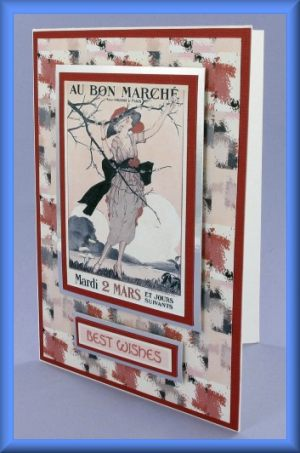 Au Bon Marché Best Wishes Card
