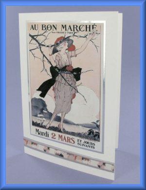 Au Bon Marché Picture Motif Card