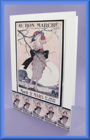 Au Bon Marché A5 Picture Motif Card