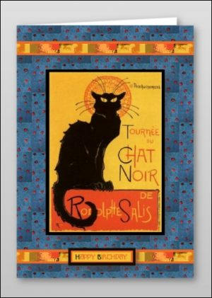 Chat Noir Happy Birthday Card