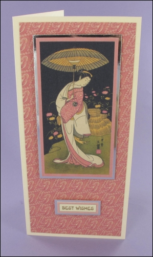 Geisha with Parasol card