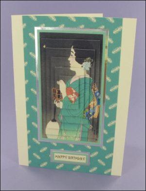 Turquoise Geisha card