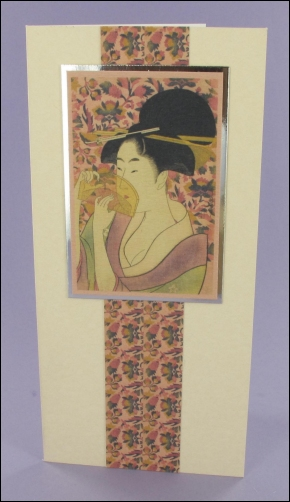 Geisha with Comb card
