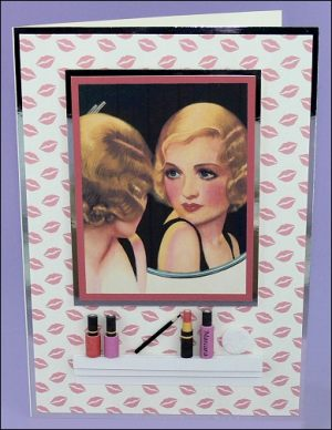 Bathroom Mirror, Shelf and Make-up card