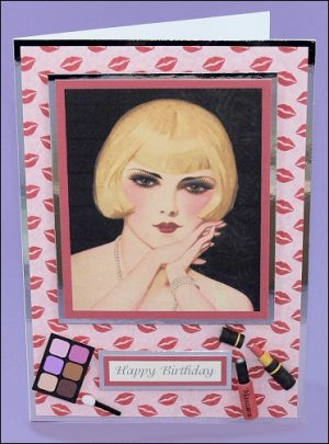 Mascara Girl & Make-up card