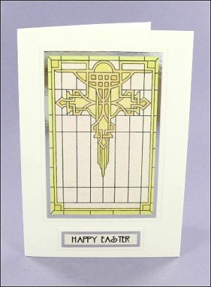Mackintosh-style Easter Cross card