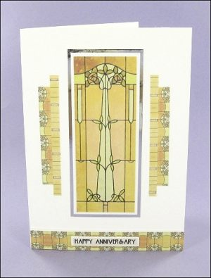 Mackintosh-style Anniversary card