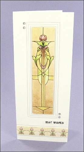 Mackintosh-style Cheat-sheet card Project - Mackintosh-style Easter Cross card