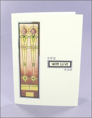 Mackintosh-style With Love card