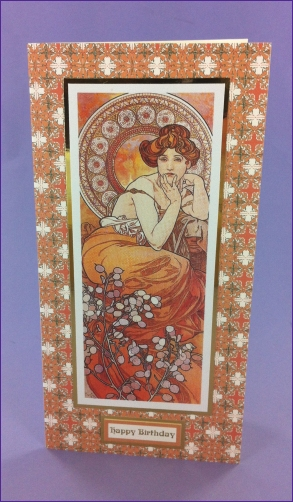 Le Topaze Art Nouveau card