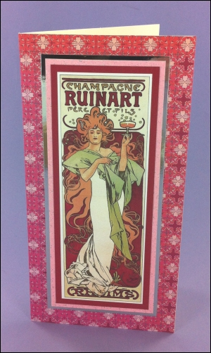 Champagne Ruinart Art Nouveau card