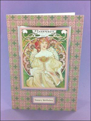 F. Champenois Art Nouveau card