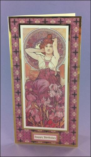 L'Amethyste Art Nouveau card