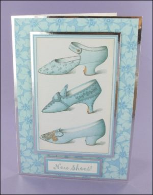 New Blue Shoes card