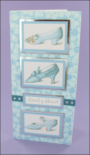 Lovely Shoes Trio card