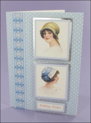 Blue Hat card